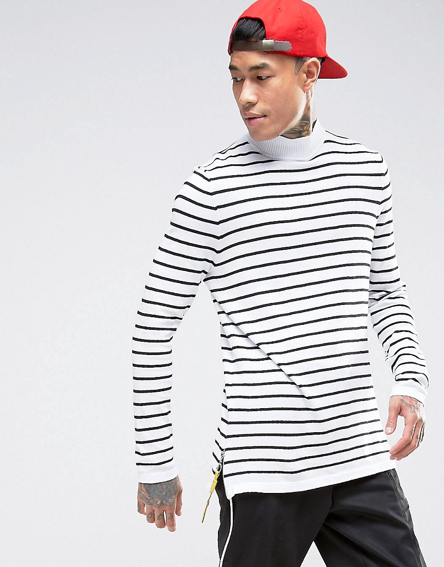 Knitted Striped Jumper pro fashion 03